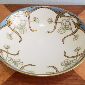 Art Nouveau 1910's hand painted bowl Nippon